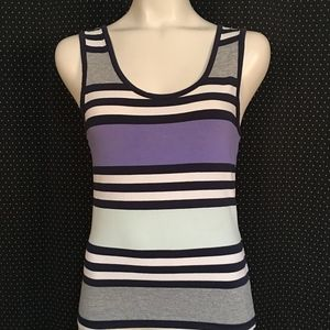 French Connection Purple & Gray Tank Top Size L
